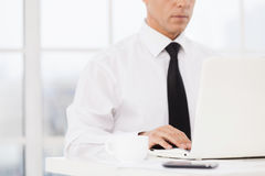 Businessman at working place. Royalty Free Stock Image