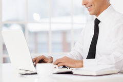 Businessman at working place. Royalty Free Stock Images