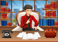 Businessman working in the private office Stock Photography