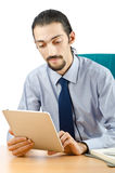 Businessman working on tablet Stock Photography