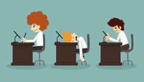 Businessman working time vector illustration