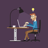 Businessman working time, Vector illustration Royalty Free Stock Photos