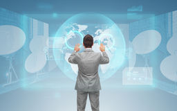 Businessman working with virtual screen Royalty Free Stock Photo