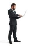 Businessman working wit laptop Stock Photo