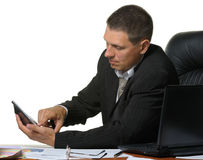 The businessman on a workplace Stock Photo