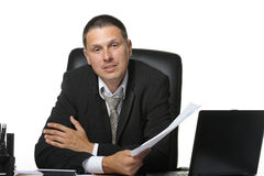 The businessman on the workplace Royalty Free Stock Photos