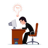 Businessman on a workplace. Business idea flat style. Royalty Free Stock Images