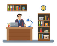 Businessman in workplace in office. Royalty Free Stock Photo