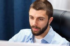 Businessman works Stock Photos