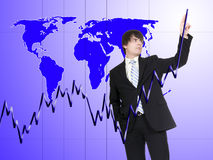 Businessman in the world Stock Photography