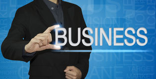 Businessman write business concept Royalty Free Stock Image