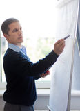 Businessman write on whiteboard Royalty Free Stock Photo