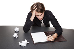 Businessman - writers block Stock Image