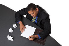 Businessman - writers block Stock Photography