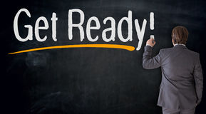 Free Businessman Writes Get Ready On Blackboard Concept Royalty Free Stock Photos - 87432908