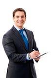 Businessman writing Royalty Free Stock Image