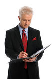 Businessman Writing Stock Image