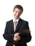 Businessman writing Royalty Free Stock Images
