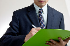 Businessman writing concept Stock Photo