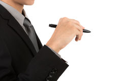 Businessman writing on copy space Stock Image