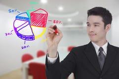 Businessman writing graph Stock Image