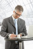 Businessman writing notes Royalty Free Stock Photo