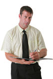 Businessman Writing Notes Royalty Free Stock Photography
