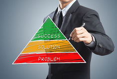 Businessman writing success concept chart Stock Photography