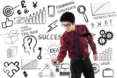 Businessman writing success concept Stock Photography
