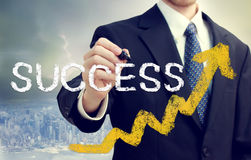 Businessman Writing Success Royalty Free Stock Photography