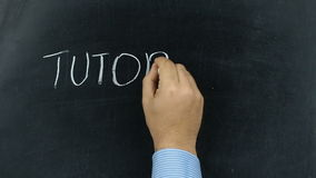 Businessman writing tutorial chalkboard blackboard stock video