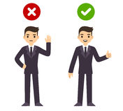 Businessman wrong and right Royalty Free Stock Image