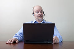 Businessman with WTF expression Stock Photography
