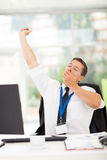 Businessman yawning Stock Photography