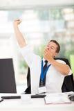 Businessman yawning Stock Photography