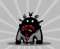 Businessman Yell Cartoon. Businessman cartoon character yelling, vector illustration, horizontal Stock Image