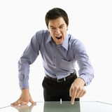 Businessman yelling. Royalty Free Stock Photo