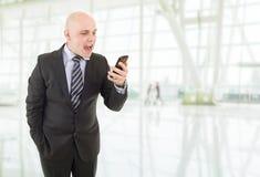Businessman yelling Royalty Free Stock Image