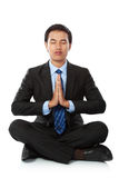 Businessman yoga Royalty Free Stock Photography