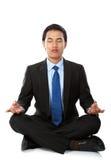 Businessman yoga Royalty Free Stock Photos