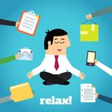 Businessman Yoga Relaxing Royalty Free Stock Photography