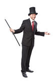 Businessman with Yop Hat Stock Image