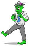 Businessman zombie with a smartphone Stock Image