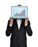 Businessmanholding笔记本 图库摄影