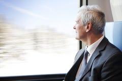 Businessmann on the train Stock Photography