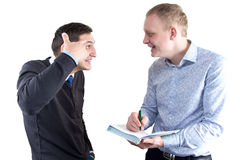 2 businessmans на белый усмехаться Стоковое фото RF