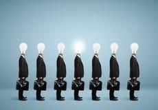 7 businessmans с шариком Стоковые Изображения