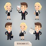 Businessmen Cartoon Characters Set1.1 Royalty Free Stock Images