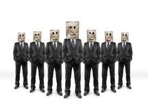 Businessmans com pacote imagem de stock