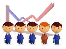 Businessmans con el gráfico en fondo ilustración del vector
